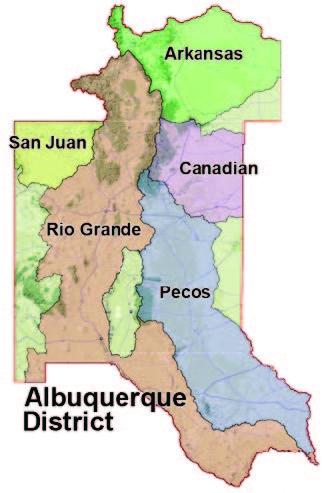 USACE Albuquerque River Basins - H&H design services